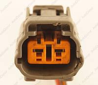 Разъем автомобильный 2-pin/контактный. Мама. 21×19 mm. Б.У