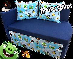 Дитячий диван Шпех Мультик Енгрі Бердс 70см, малютка розкладний