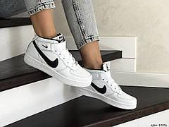 Кроссовки подростковые белые с черным Nike Air Force 8446