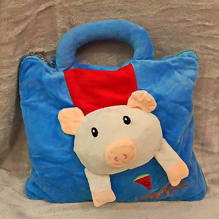 Плед мягкая игрушка 3 в 1  Поросенок сумочка  (11)