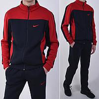 Утепленный спортивный костюм Nike / Трикотаж трехнитка с начесом - темно синий