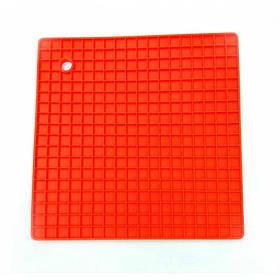 Подставка под горячее силиконовая 17,8 x 17,8 x 0.8 Genes красная