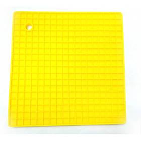 Подставка под горячее силиконовая 17,8 x 17,8 x 0.8 Genes желтая