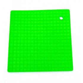 Подставка под горячее силиконовая 17,8 x 17,8 x 0.8 Genes зеленая