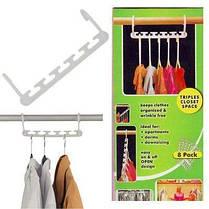 Универсальная вешалка-органайзер для одежды Wonder Hangers Набор 8 шт Белая, фото 3