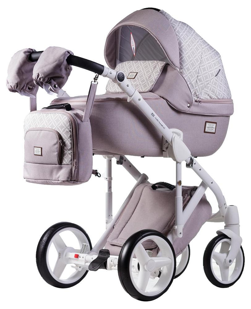 Универсальная детская коляска  2 в 1 Adamex Luciano jeans Q219
