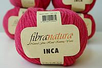 Чистошерстяная пряжа Fibranatura Inka ягодный