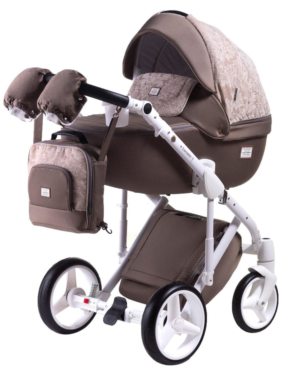 Универсальная детская коляска  2 в 1 Adamex Luciano jeans Q213