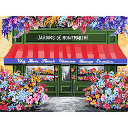 Картина по номерам Квіткова крамничка, 40x50 см., Идейка
