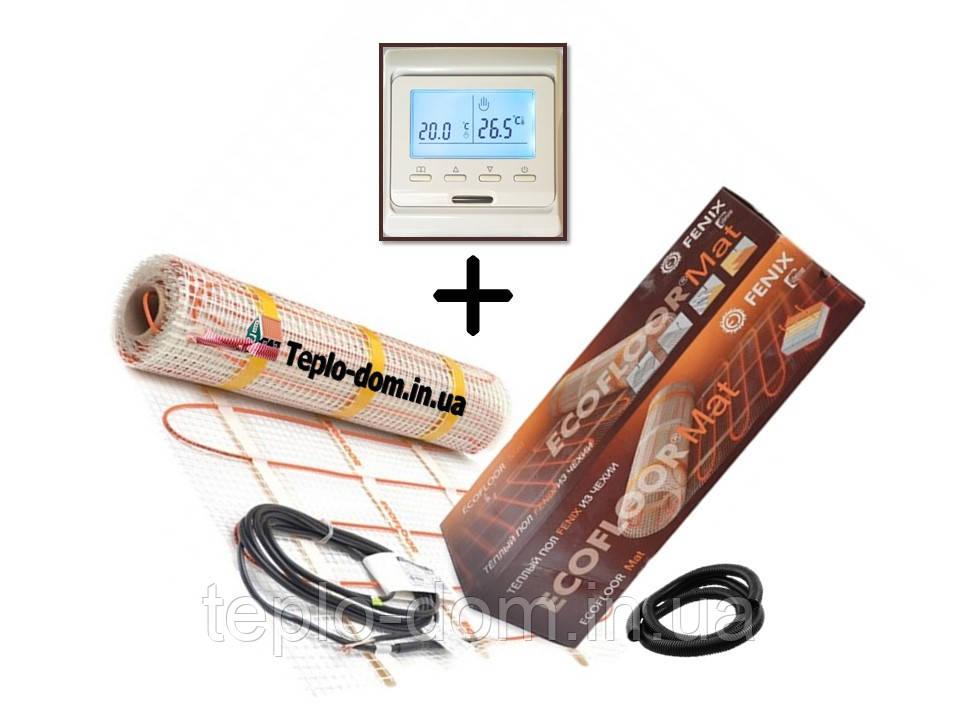 Нагревательный мат Fenix LDTS 12410 ( 2.6 м2) с Программируемым терморегулятором E- 51 (Премиум)