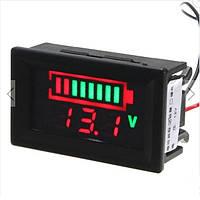 Цифровой индикатор аккумуляторов для проверки уровня заряда вольтметр 12В, 24В
