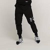 Карго штаны мужские черные бренд ТУР модель Ёсида (Yoshida)