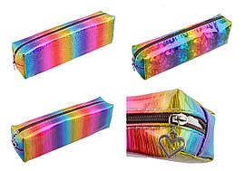 """Пенал-косметичка """"Голографический разноцветный"""" 3 цвета, 200-2"""