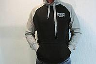 Мужская толстовка EVERLAST (82719) черно-серая c капюшоном код 126в