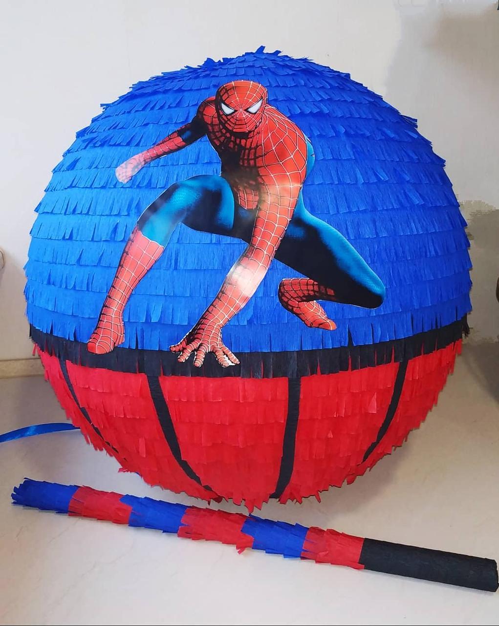 Пиньята - шар для разбивания с сюрпризом Спайдермен Человек-паук
