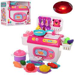 Кухня детская 25-17-16см, плита, музыка, свет, посуда, продукты, 963