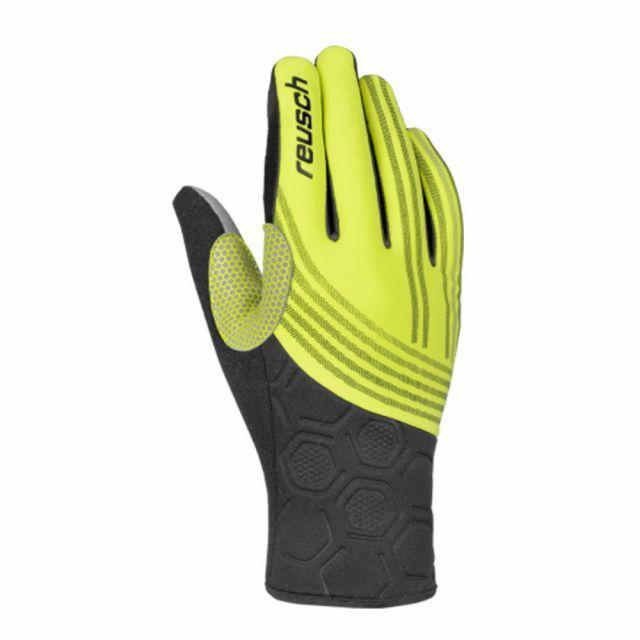 Гірськолижні рукавички Nordic Reusch Owen - black / yellow розмір - 7
