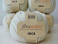 Чистошерстяная пряжа Fibranatura Inka молочный