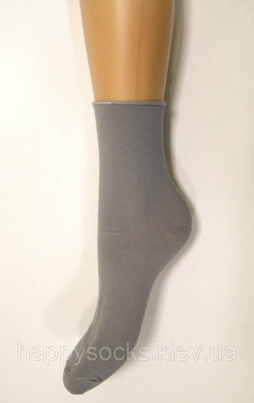 Носки антиварикоз без резинки высокие женские серого цвета