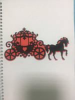 Блокнот з еко паперу з різьбленням Карета 50 арк
