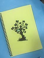 Блокнот з еко паперу з різьбленням Дерево 50 арк