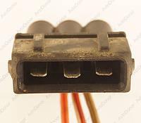 Разъем автомобильный 3-pin/контактный. Папа. 34×15 mm. Б.У