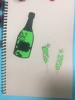 Блокнот з еко паперу з різьбленням Шампанське 50 арк