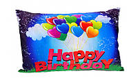 Наволочка для подушки 3050 см happy birhday-шарики, 2й сорт