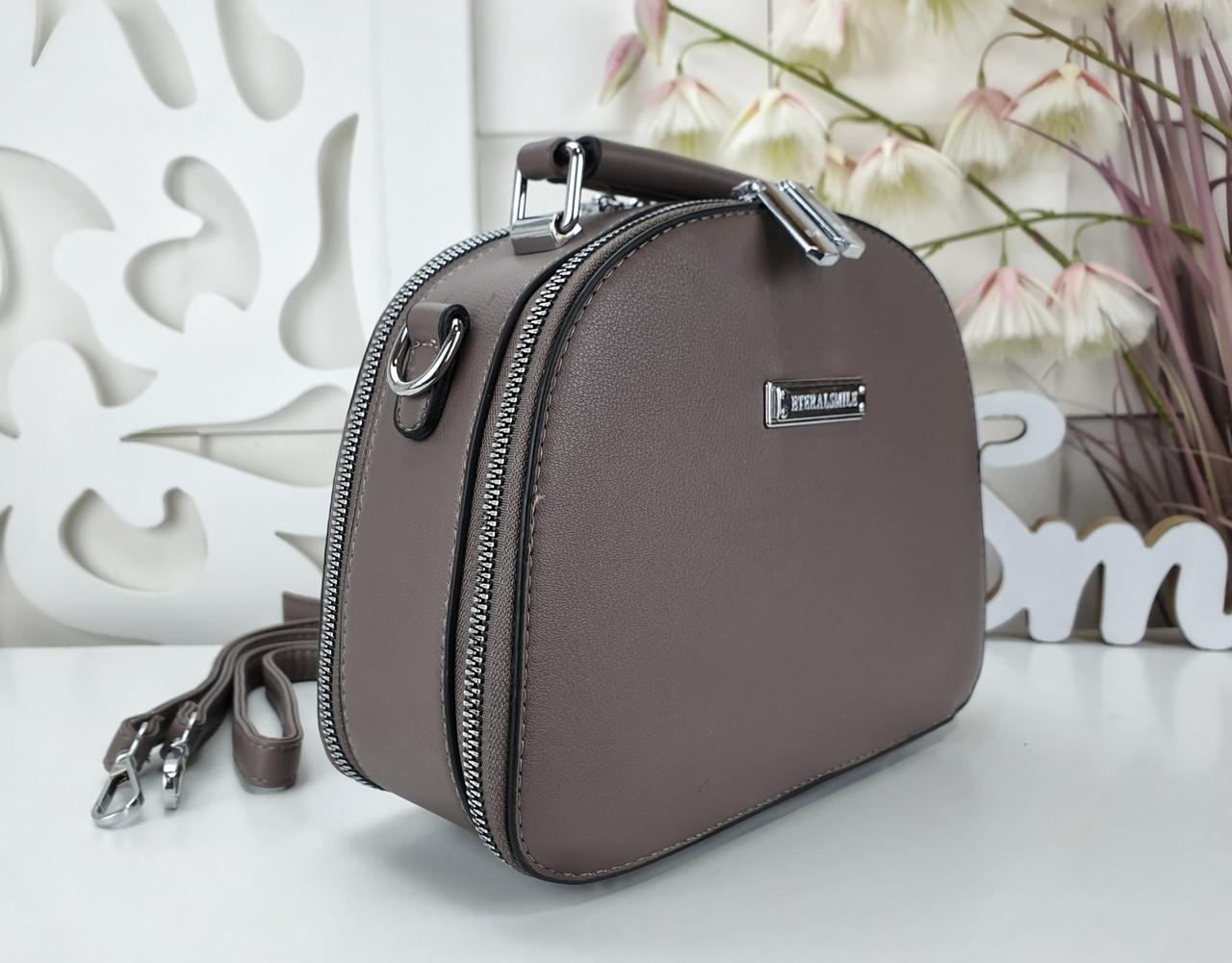 Женская сумка-клатч цвета капучино, эко кожа