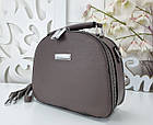 Женская сумка-клатч цвета капучино, эко кожа, фото 5