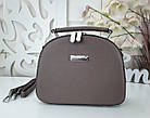 Женская сумка-клатч цвета капучино, эко кожа, фото 4
