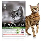 Сухой корм для кастрированных котов и стерилизованных кошек Лосось Pro Plan STERILISED 10 кг