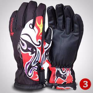 Чоловічі гірськолижні рукавички Boodun чорний