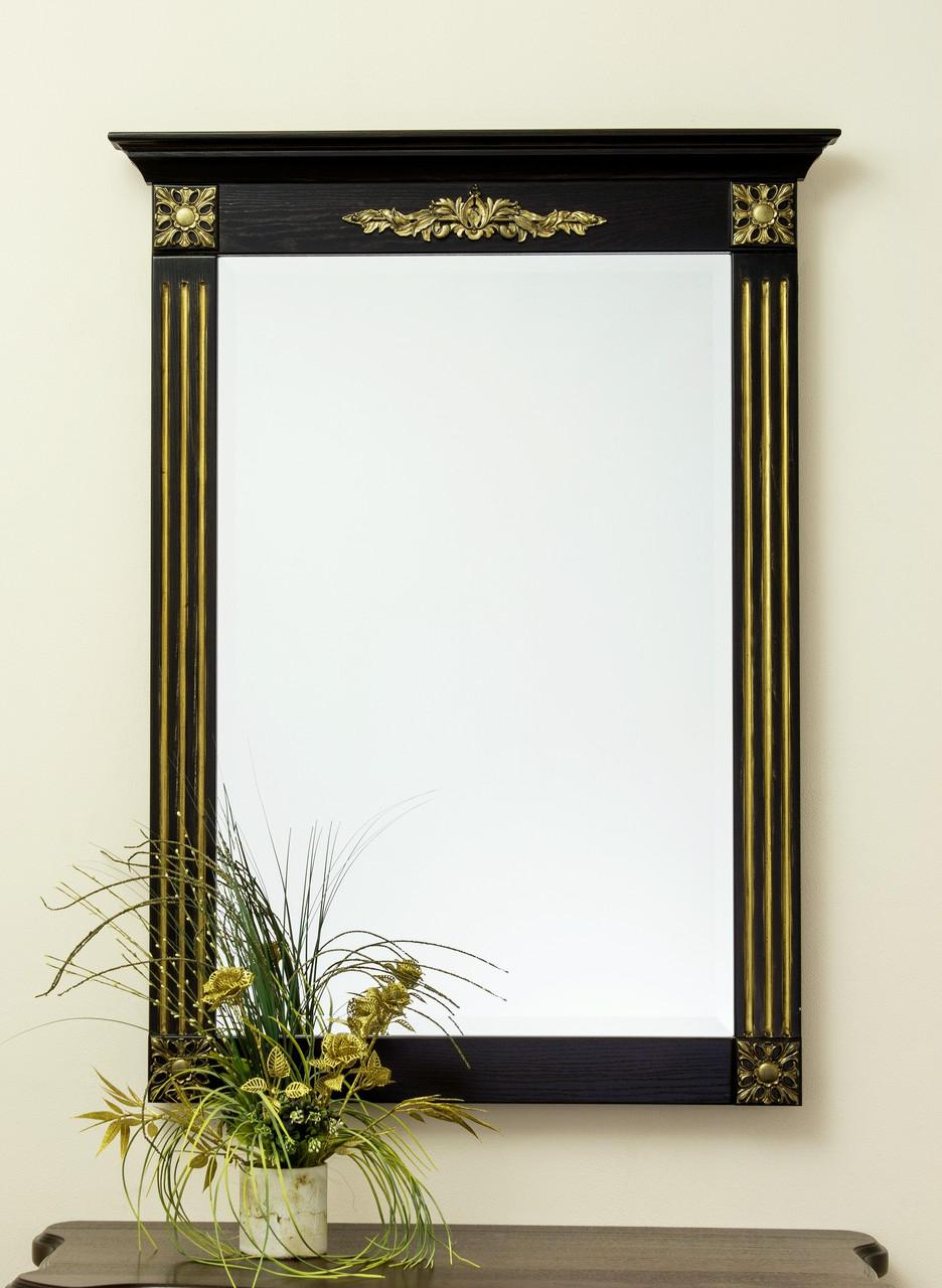 Код М-003.1. Зеркало в деревянной раме с резьбой