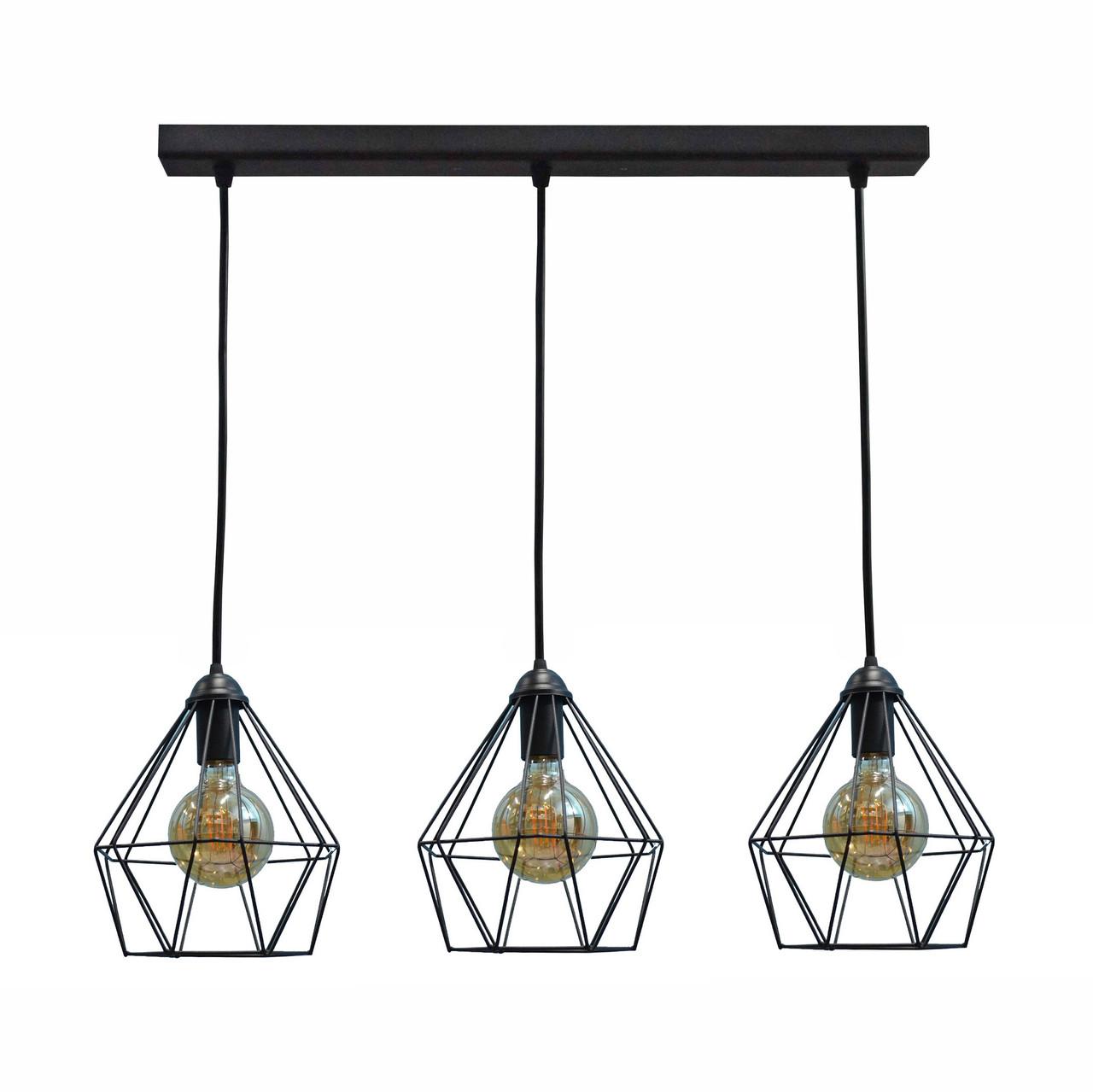 Світильник підвісний на три лампи MSK Electric E27 метал (NL 0537-3)