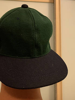 Чистая Кепка без надписей черно-зелёная, фото 2