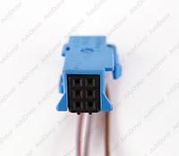 Разъем автомобильный 6-pin/контактный. Мама. 11×9 mm. Б.У