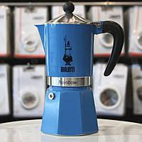 Гейзерная кофеварка Bialetti Rainbow Blue (3 чашки - 170 мл)