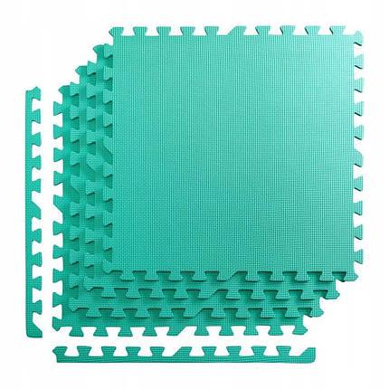 Мат-пазл (ласточкин хвост) 4FIZJO Mat Puzzle EVA 120 x 120 x 1 cм 4FJ0077 Mint, фото 2