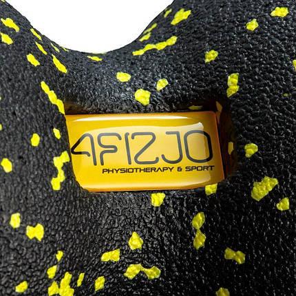 Массажный мяч двойной 4FIZJO EPP DuoBall 12 4FJ0082 Black/Yellow, фото 2