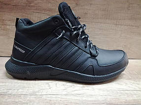 Мужские зимние кроссовки Extrem из натуральной кожи черные., фото 2