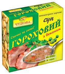 """Суп гороховый со вкусом бекона """"Чудова"""" брикет 160 гр"""