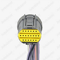Разъем автомобильный 20-pin/контактный. Мама. 24×23 mm. Б.У