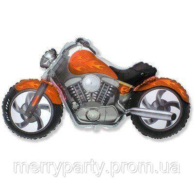Мотоцикл оранжевый 57х115 см Flexmetal Испания фольгированный шар