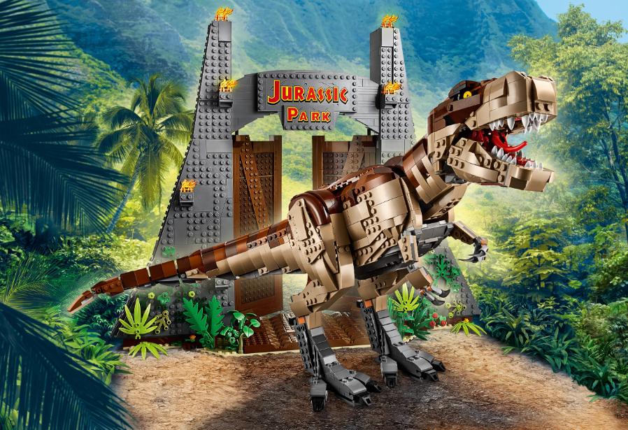 """Конструктор LARI Dinosaur World 11338 """"Парк Юрского периода: ярость Ти-Рекса"""" , 3156 дет"""