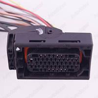 Разъем автомобильный 46-pin/контактный. Мама. 64×41 mm. Б.У