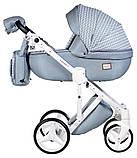 Универсальная детская коляска 2 в 1 Adamex Luciano jeans Q204, фото 2
