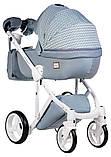 Универсальная детская коляска 2 в 1 Adamex Luciano jeans Q204, фото 3