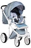 Универсальная детская коляска 2 в 1 Adamex Luciano jeans Q204, фото 4