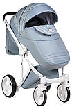 Универсальная детская коляска 2 в 1 Adamex Luciano jeans Q204, фото 5